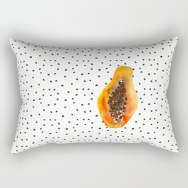 Papaya vibes Rectangular Pillow