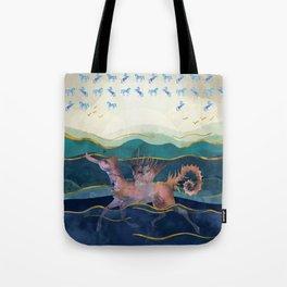 Seahorse Horse Hippocamp - Surreal Mythology Creature Tote Bag