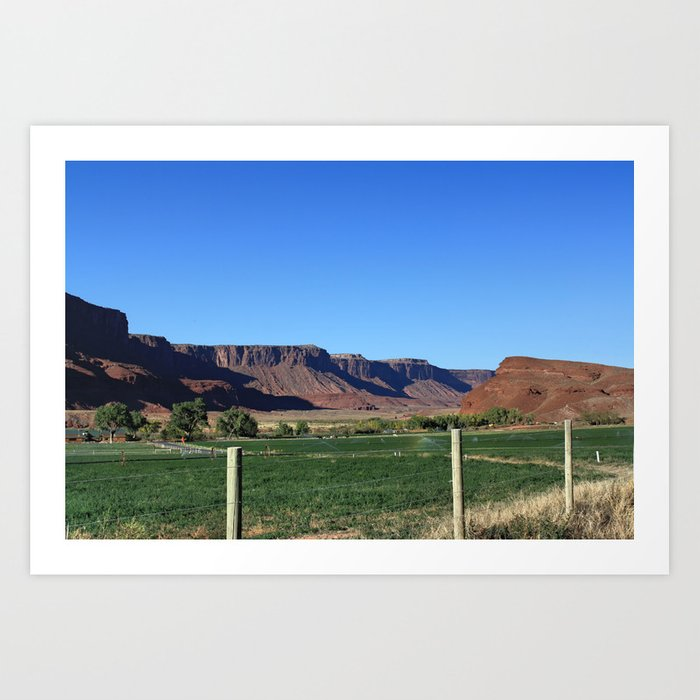 Canyon Farm Art Print