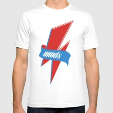 Z_Minds White Mens Fitted Tee MEDIUM