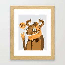 Monster Trucker Framed Art Print