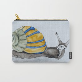 Colorful snail watercolor painting snail shell art Carry-All Pouch