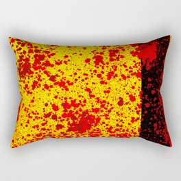 Yellow Blood and black line Rectangular Pillow