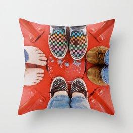 Soles Throw Pillow