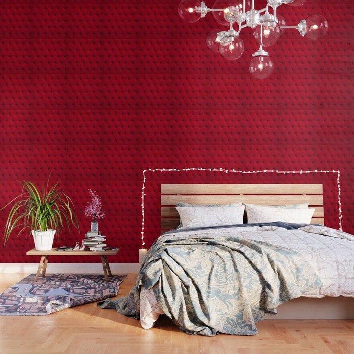 Padded Red Velvet Texture Wallpaper By Koovox Society6