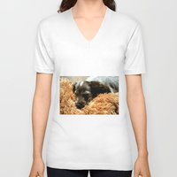 coco V-neck T-shirts featuring Coco by Sandra Ireland Images