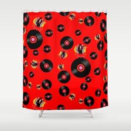 Angus on Vinyl Shower Curtain