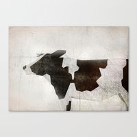 cow Canvas Prints featuring Cow by Eva Nev
