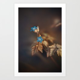 Blue is my favorite Color Art Print