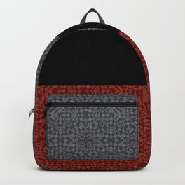 Grey-brown block Backpack