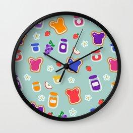 Jams & Jellies (Blue) Wall Clock