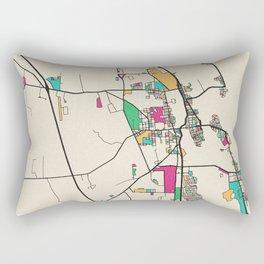 Colorful City Maps: St. Augustine, Florida Rectangular Pillow