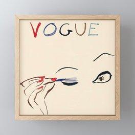 Vintage Fashion Magazine Framed Mini Art Print