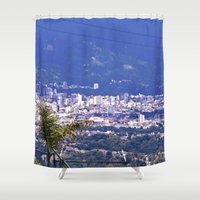 colombia Shower Curtains featuring The Santanderes, Colombia. by Alejandra Triana Muñoz (Alejandra Sweet