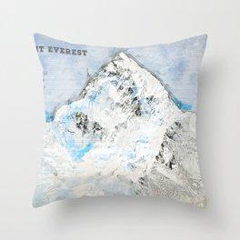 Mount Everest, Nepal Asia Throw Pillow