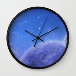 Moons in Evening Sky Wall Clock