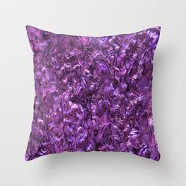 Abalone Shell | Paua Shell | Sea Shells | Patterns in Nature | Magenta Tint | Throw Pillow