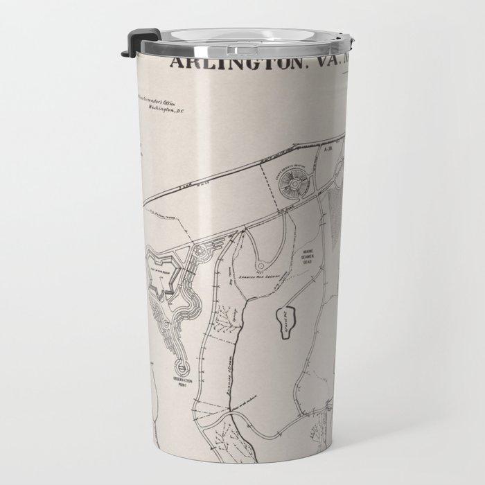 Vintage Map of Arlington National Cemetery (1901) Travel Mug by ...