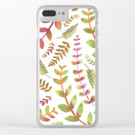 Fall Changing Leaves Clear iPhone Case