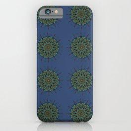 Himalayan Candy Blue - Mini Mandala Pattern iPhone Case