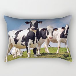 Young Holstein cows Rectangular Pillow