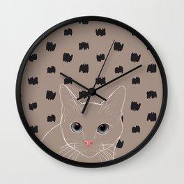 Cat stare Wall Clock