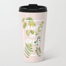Leaves of Grass, Walt Whitman, book cover illustration, american poetry collection, flowers art Travel Mug