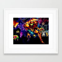 metroid Framed Art Prints featuring METROID  by Modern8bit