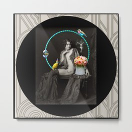 The Hoop Fairy & The Clown Canary Metal Print