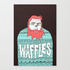 Mister Waffles Canvas Print