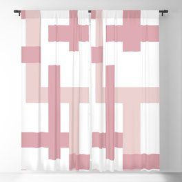 Pink + Dusty Rose | Melrose Abstract Art Blackout Curtain