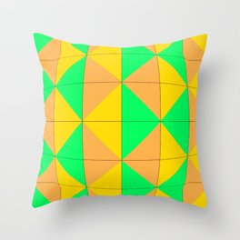 Harlequin bulge Throw Pillow