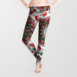 Mandala Christmas Sloth Leggings