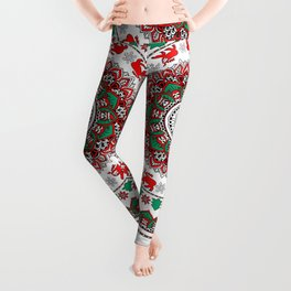 Mandala Christmas Sloth Leggings