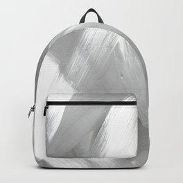 Grey Modern Minimalist Abstract Wall Art Backpack