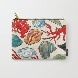Sea Life Watercolor Carry-All Pouch