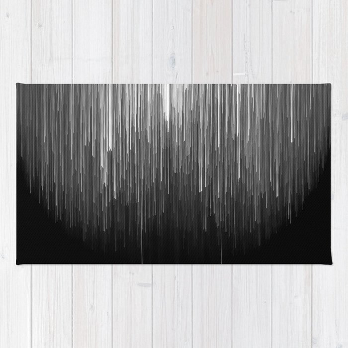 The Lights (Black and White) Rug