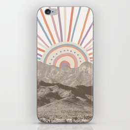 Summerlin Mountain Up // Abstract Vintage Mountains Summer Sun Surf Beach Vibe Drawing Happy Wall Ha iPhone Skin