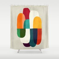 sleep Shower Curtains featuring The Cure For Sleep by Picomodi