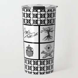 Amos Fortune Grid Pattern Travel Mug