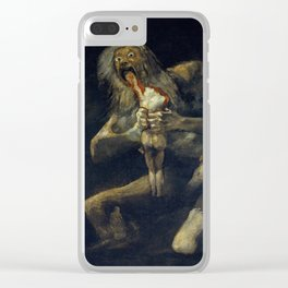 Saturn Devouring His Son by Francisco Goya Clear iPhone Case