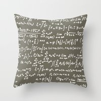 math Throw Pillows featuring Math by beach please