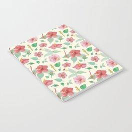 Hibiscus Pattern Notebook