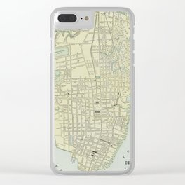 Vintage Map of Charleston SC (1901) Clear iPhone Case
