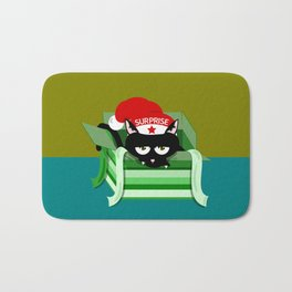 Naughty Cat Surprise Bath Mat