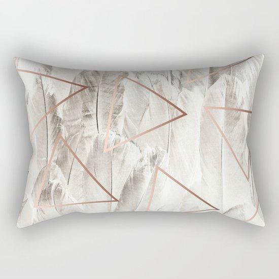 Feathers & Copper #society6 #decor #buyart Rectangular Pillow