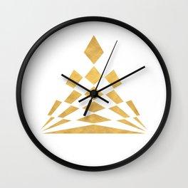 CHECKERBOARD ABSTRACT PYRAMID sacred geometry Wall Clock