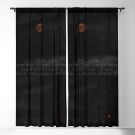 Blood Moon - Total Lunar Eclipse, Grand opposition of Mars, Southern Delta Aquarid meteor shower Blackout Curtain