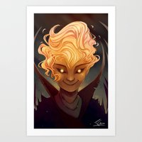 calcifer Art Prints featuring Calcifer by Cruz'n Creations