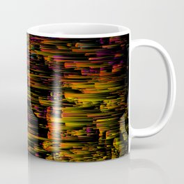 Rainbow Light Speed - Abstract Glitch Pixel Art Coffee Mug